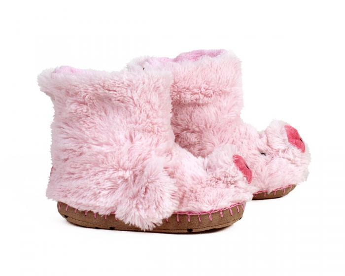 Kids Pig Slouch Slippers 2