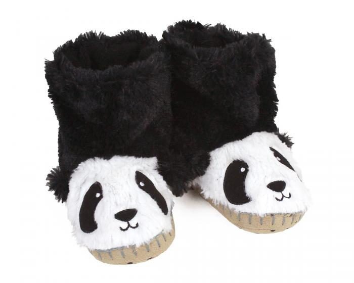 Kids Panda Slouch Slippers View 1