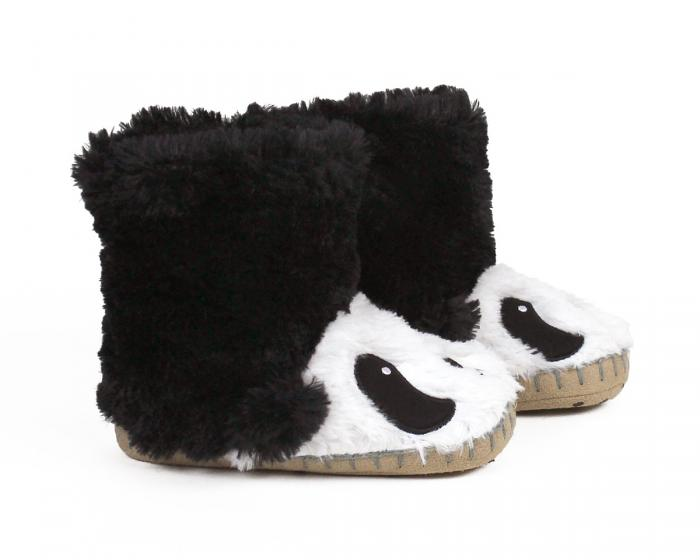 Kids Panda Slouch Slippers View 2