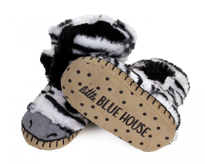 Kids Zebra Slouch Slippers View 3