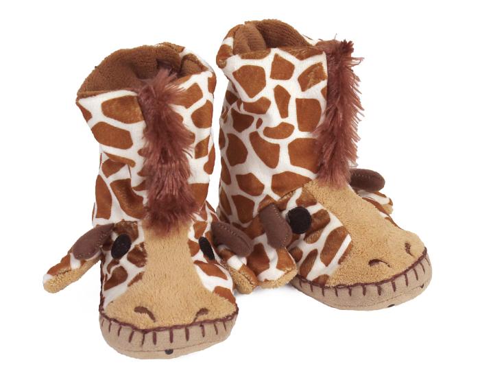 Kids Giraffe Slouch Slippers View 1