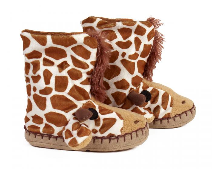 Kids Giraffe Slouch Slippers View 2