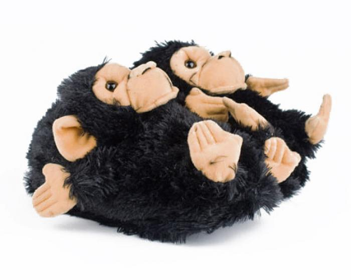 Black Monkey Animal Slippers 1