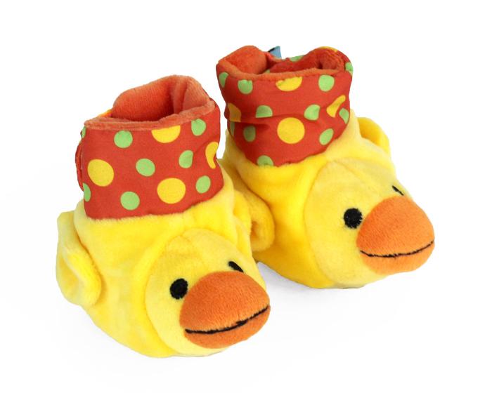 Duck Baby Booties 3/4 View