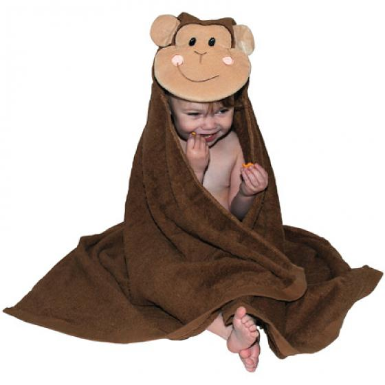 Monkey Hooded Bath Towel