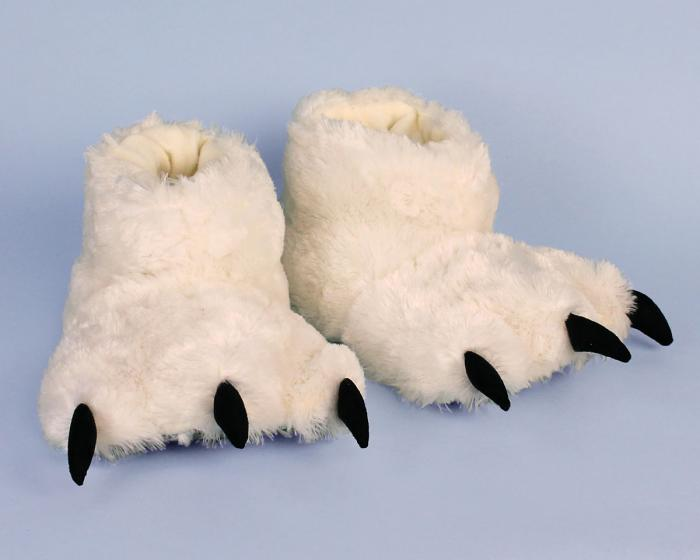 Polar Bear Paw Slippers 3/4 View