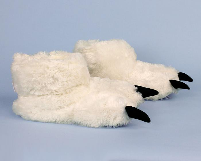 Polar Bear Paw Slippers Side View
