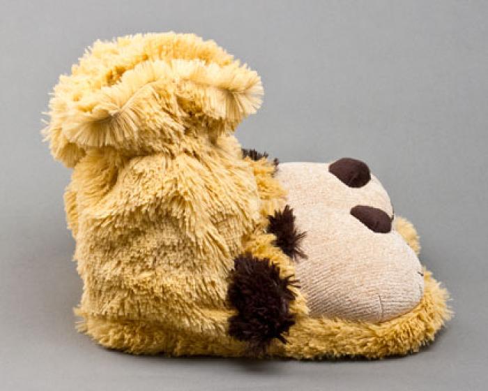 Fuzzy Dog Sock Slippers 2