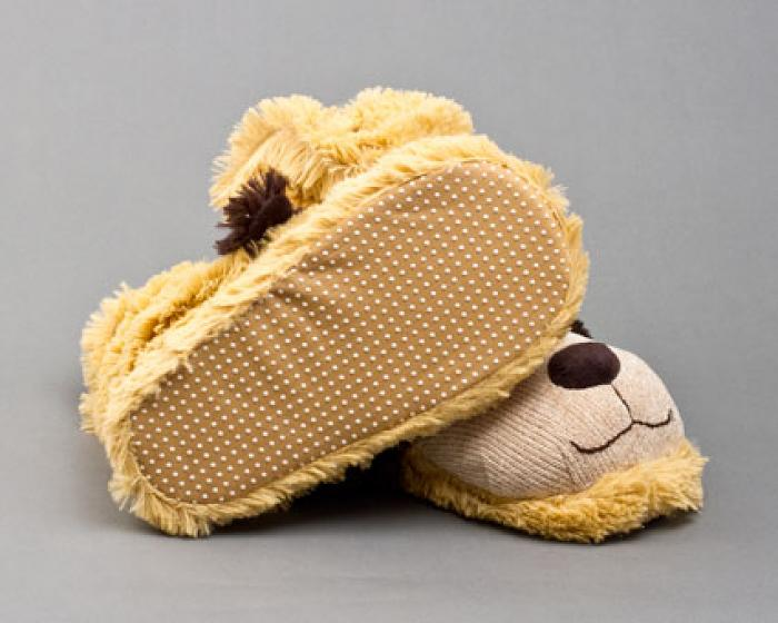 Fuzzy Dog Sock Slippers 3