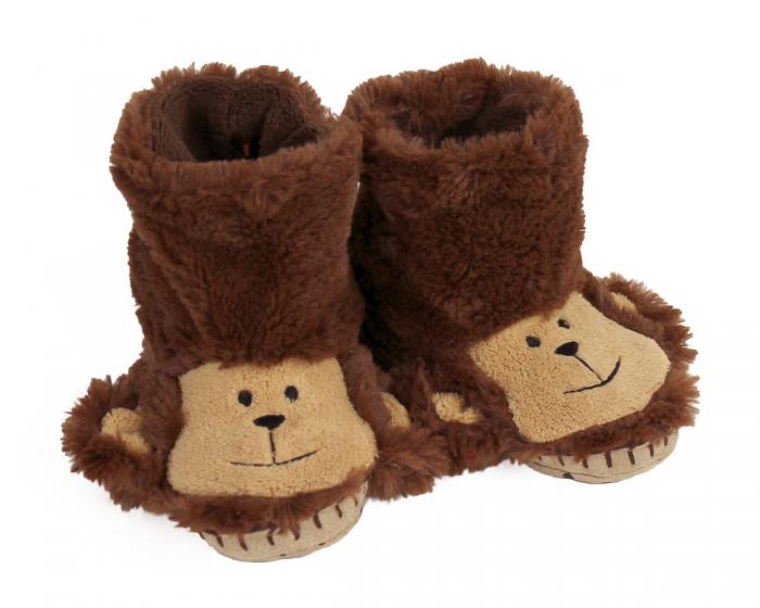 Kids Monkey Slouch Slippers View 1
