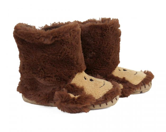 Kids Monkey Slouch Slippers View 2