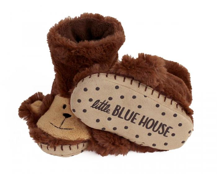 Kids Monkey Slouch Slippers View 4