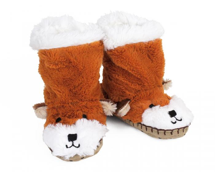 Kids Fox Slouch Slippers View 1