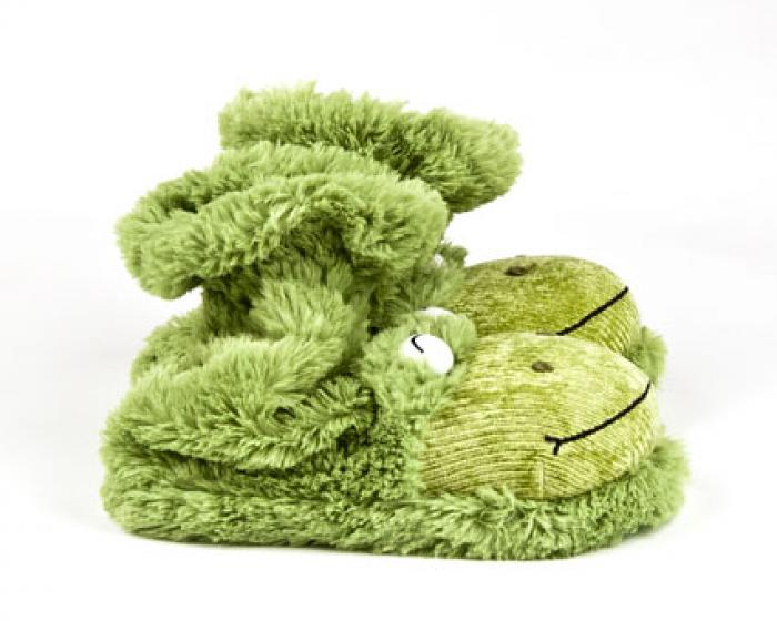 Fuzzy Frog Sock Slippers 1