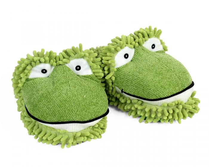 Fuzzy Frog Slippers 1