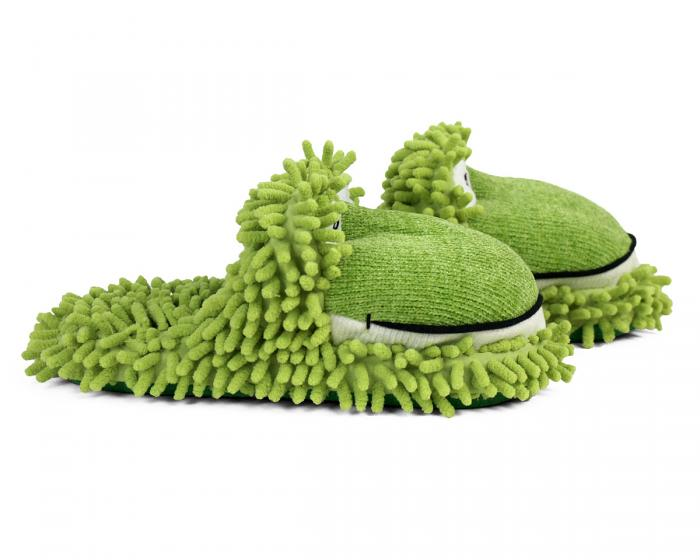 Fuzzy Frog Slippers 2