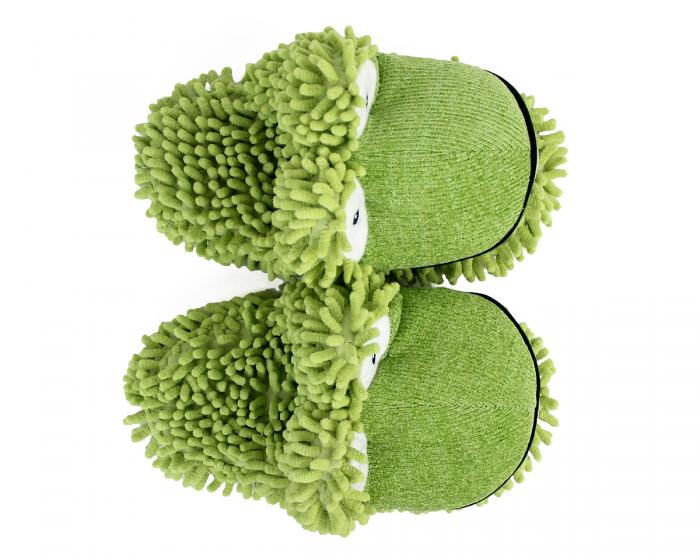 Fuzzy Frog Slippers 3