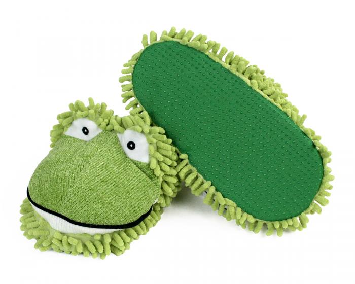 Fuzzy Frog Slippers 4