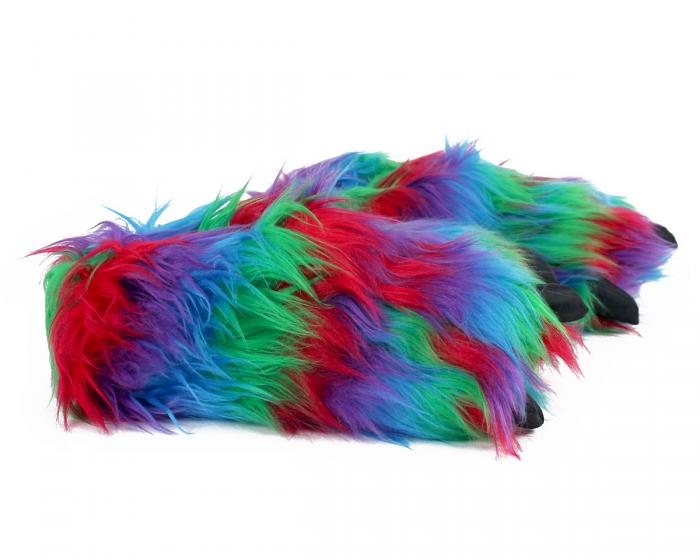 Rainbow Paw Slippers Side View