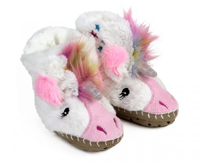 Kids Unicorn Slouch Slippers View 1