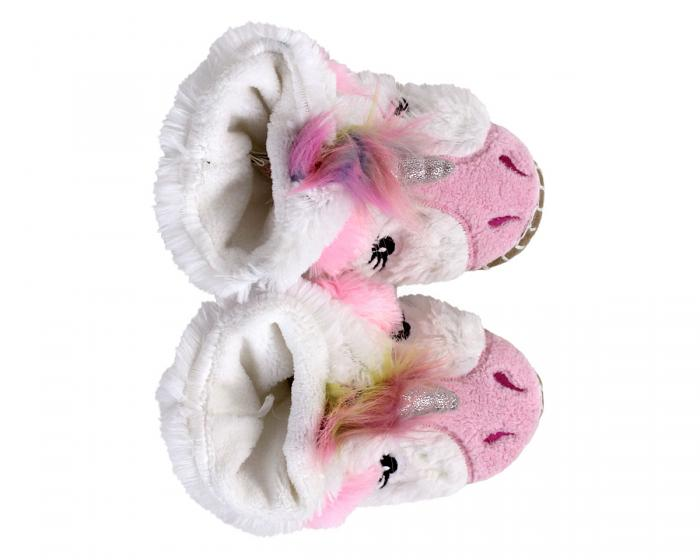 Kids Unicorn Slouch Slippers Top View