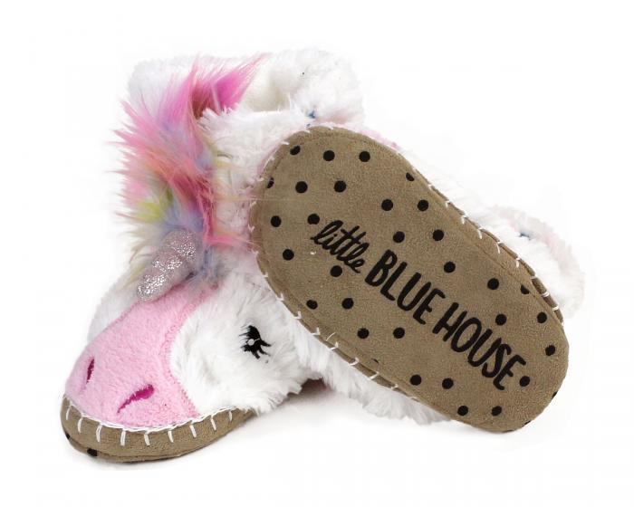 Kids Unicorn Slouch Slippers Bottom View