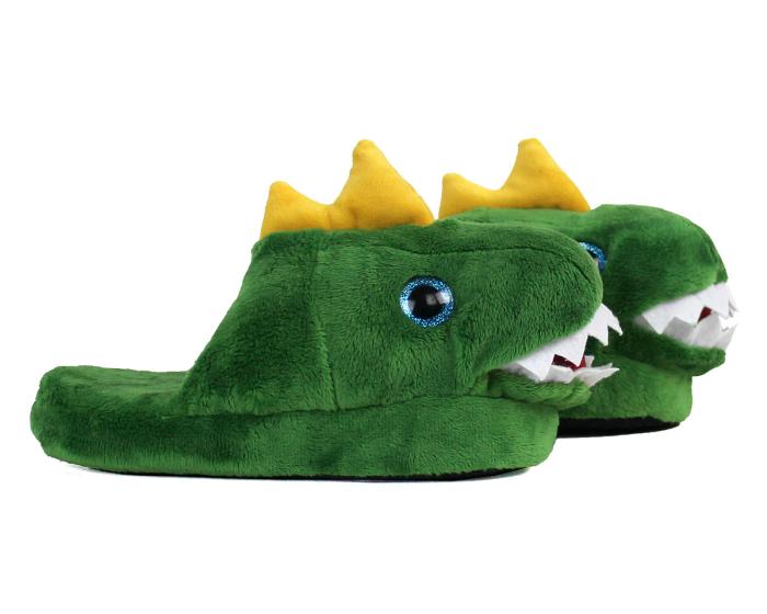 Kids Dinosaur Slippers Side View