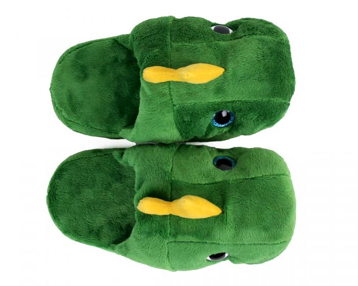 Kids Dinosaur Slippers Top View