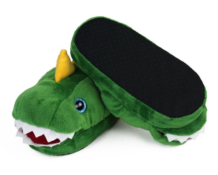 Kids Dinosaur Slippers Bottom View