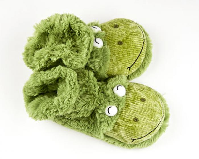 Fuzzy Frog Sock Slippers 4