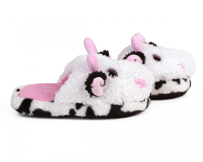 Kids Cow Slippers Side View