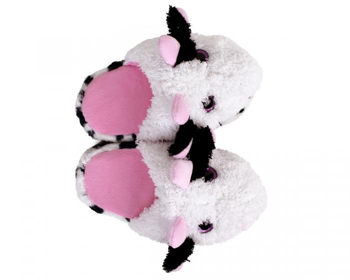 Kids Cow Slippers Top View