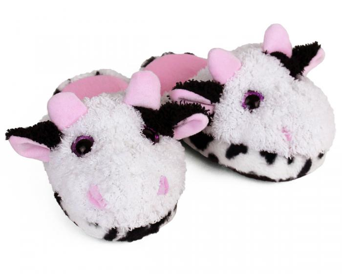 Kids Cow Slippers View 1