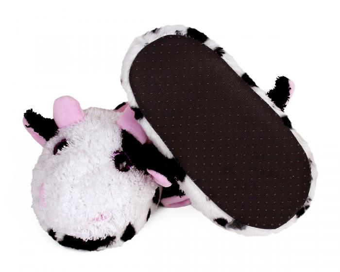 Kids Cow Slippers Bottom View
