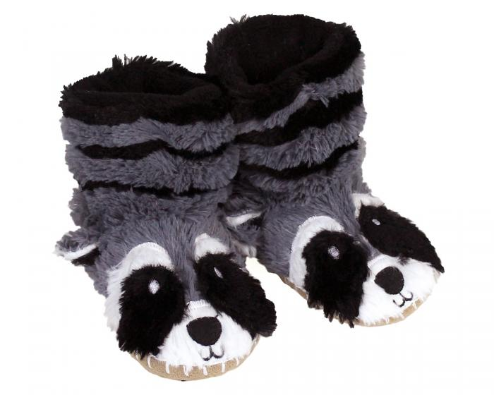 Kids Raccoon Slouch Slippers View 1