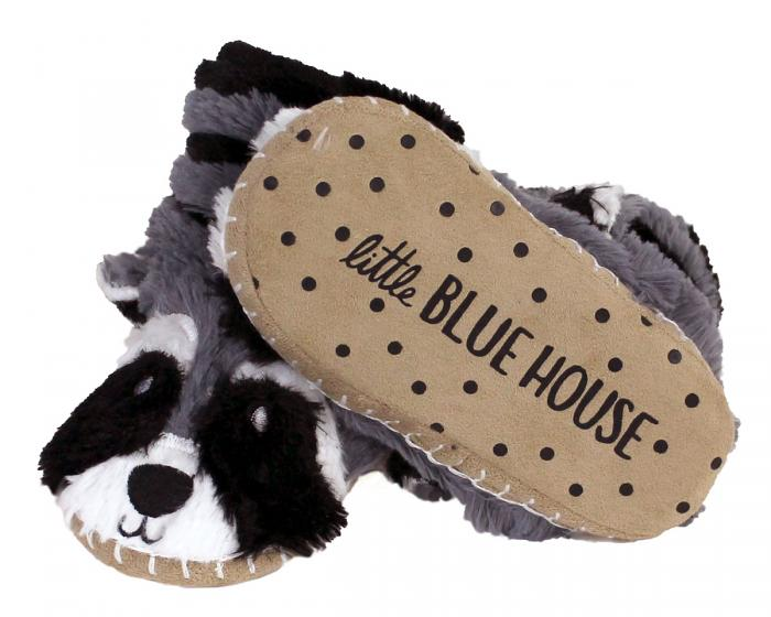 Kids Raccoon Slouch Slippers Bottom View