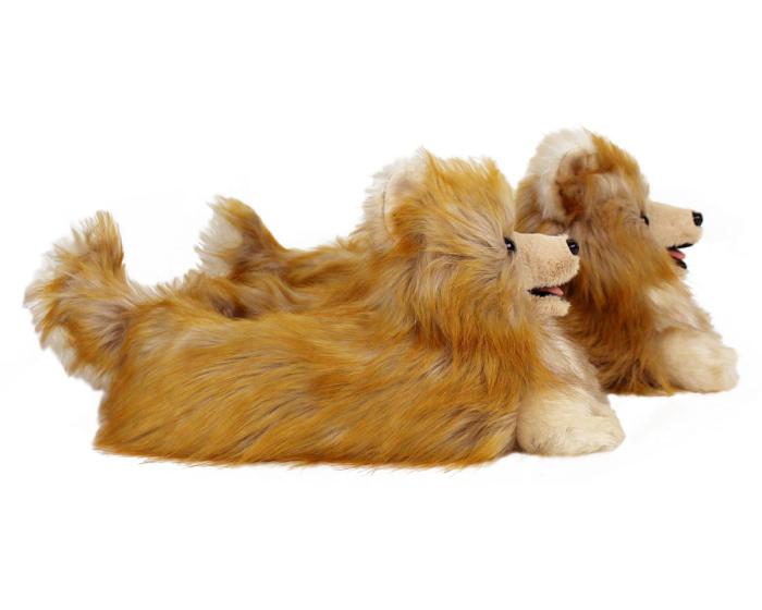 Pomeranian Slippers Side View