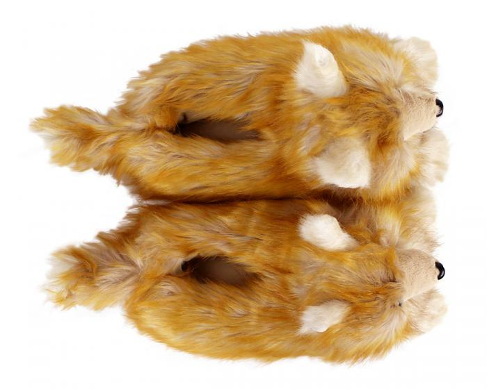 Pomeranian Slippers Top View