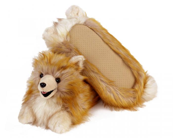 Pomeranian Slippers Bottom View
