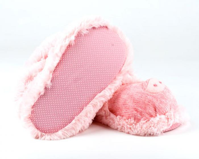 Fuzzy Pig Sock Slippers 2