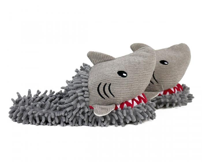 Fuzzy Shark Slippers Side View