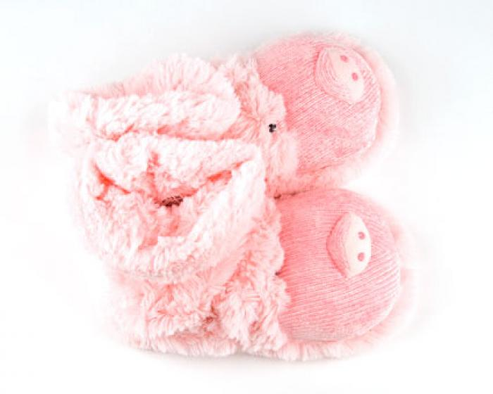 Fuzzy Pig Sock Slippers 3