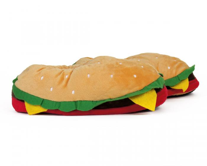 Hamburger Slippers Side View