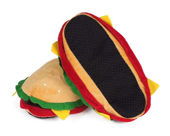 Hamburger Slippers Bottom View