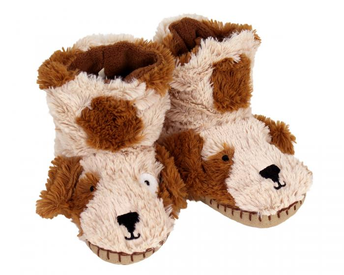 Kids Dog Slouch Slippers 3/4 View
