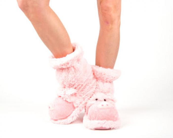 Fuzzy Pig Sock Slippers 4