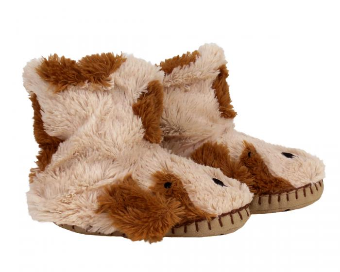 Kids Dog Slouch Slippers Side View