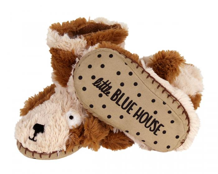 Kids Dog Slouch Slippers Bottom View