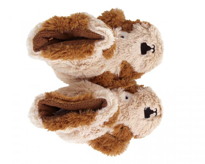 Kids Dog Slouch Slippers Top View