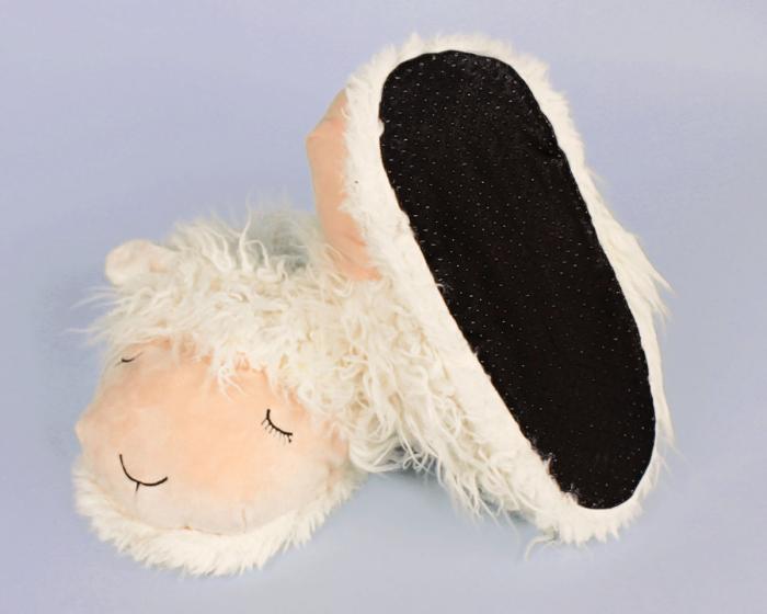 Fuzzy Lamb Slippers Bottom View